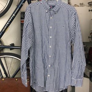 Vineyard Vines Cotton flannel gingham slim shirt